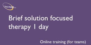 Brief solution focused therapy 1 day (online for teams)