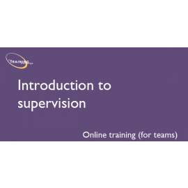 Introduction to supervision (online for teams)