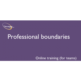 Professional boundaries (online for teams)
